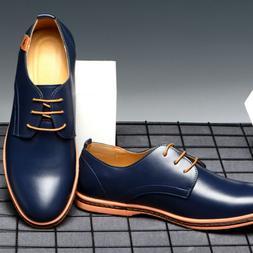 Men's Wedding Dress Formal Oxfords Shoes Leather Suit Lace u