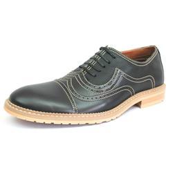 Men's Wing Tip Dress Shoes Ferro Aldo Lace Up Oxfords Denim