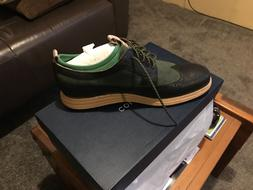 Men's Cole Haan Wingtip Nike Lunar Dress shoe Green Black 11