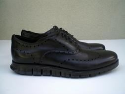 Cole Haan Men's Zerogrand Wingtip Oxford Black Shoes $270 -