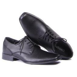 Men Calvin Klein Shoes Brodie EPI Dress Shoes Black Size 14
