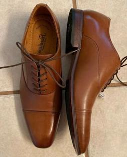 Men' Size 12D Brown Leather Florsheim Memory Foam Lace Dre
