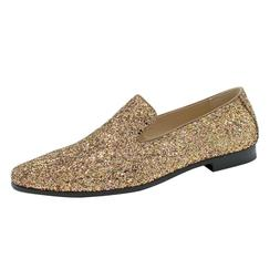 Men Smoking Slipper Metallic Sparkling Glitter Tuxedo Slip o