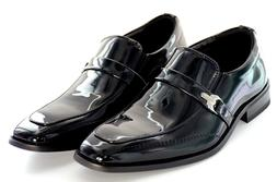 Men wedding Dress Shoes  Patent Leather Tuxedo Strap and Buc