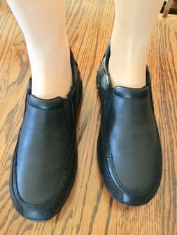Mens Rockport Adiprene by Adidas Black Leather Slipon Shoes,