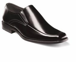 Stacy Adams Mens Black Cassidy Moc Toe Leather Slip On Dress