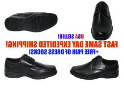 Mens M.Brother Black Formal Dress Shoes Laced Up Comfortable