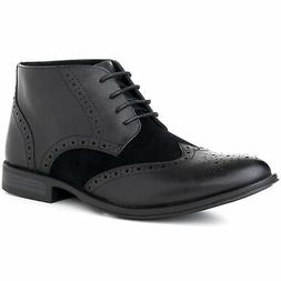 mens boots wing tip lace up dress