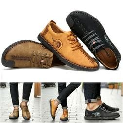 Mens British Style Retro Leather Classic Oxford Formal Flats