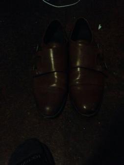 Asher Green Mens Burgundy Pebble Leather Double Monkstrap Dr