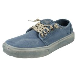 mens canvas round toe lightweight trainers size