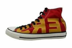 Converse Mens Chuck Taylor All Star Hi Enamel Red Yellow, Mu