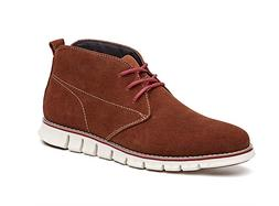 LAOKS Mens Chukka Boot Genuine Leather Lace up Dress Shoes,