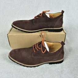 iLoveSIA Mens Classic Suede Leather Oxford Shoes Brown Size