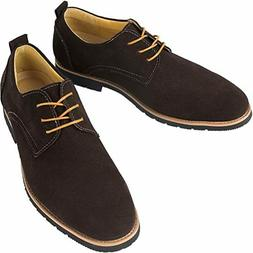 iloveSIA Mens Classic Suede Leather Oxford Shoes G2 Size 11.