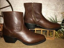 Mens Ariat Cowboy Boots Ankle High Casual/ Dress 10-D Mahoga