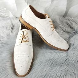 Stacy Adams Mens Deacon Leather Oxford Dress Shoes Cap-Toe B