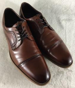 Stacy Adams Men's Dickinson Cap Toe Dress Shoes Cognac Lea