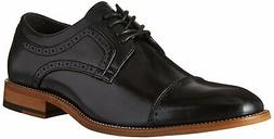 Stacy Adams Mens Dickinson Leather Lace Up Dress Oxfords, Bl