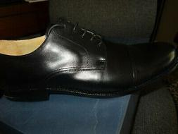 Huntleigh Mens dress shoes, Black Leather 14 Wide