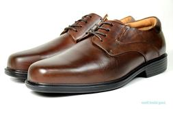 La Milano Mens Dress Shoes Genuine Leather Brown, Extra wide
