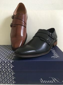 Amali Mens Dress Shoes Lofer Slip One Double Strap Wedding P