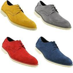 Mens Dress Shoes - Microfiber Mens Casual Shoes - Oxford Sho