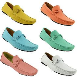 Amali Mens Casual Driving Moccasin Loafers Designer Suede Sl