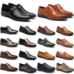 Mens Dress Shoes Wingtip Lace Up Formal Office Oxfords Brogu