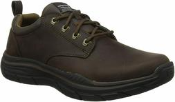 Skechers Mens Expected 2.0 Harlo shoes brown Leather Oxford