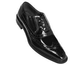Asher Green Mens Genuine Box Calf Leather Wingtip Dress Shoe
