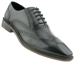 mens dress shoes lace up wingtip genuine