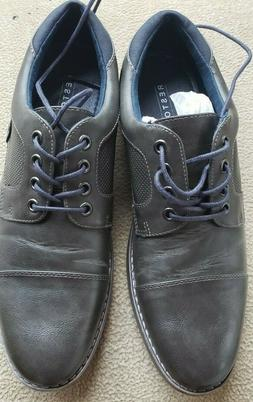 Restoration Mens Justin Lace Up Cap Toe Oxford Shoes Gray co