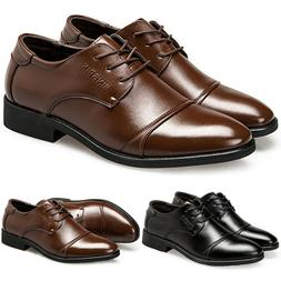 Mens Lace Up Leather Oxfords Dress Tuxedo Formal Business Wo