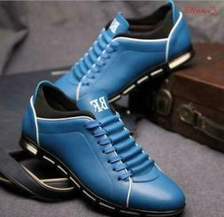 Mens lace up running sneaker casual dress Shoes plus size 5