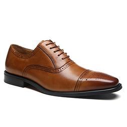 La Milano Mens Leather Cap Toe Lace up Oxford Classic Modern