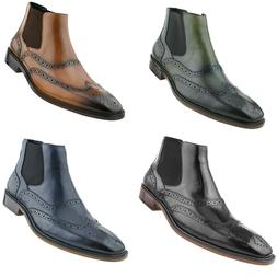 Asher Green Mens Leather Chelsea Dress Shoes Slip On Casual