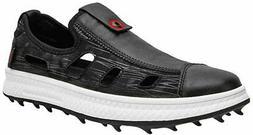 ZAKEY Mens Leather Golf Sandals Shoes Boys Spikeless Golf, B