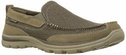 Skechers Mens Milford Fabric Closed Toe Slip On Shoes, Light
