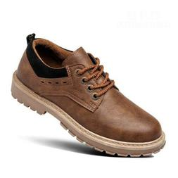 Mens Military Martin Shoes Casual Leather Vintage Work Boots