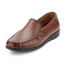 mens montclair genuine leather casual slip on