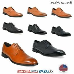 mens oxford shoes genuine leather lace up