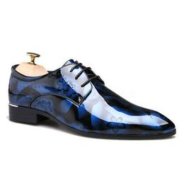 YJP Mens Patent Leather Shoes Brogue Pointy Toe Business For