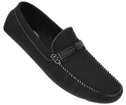 Amali Mens Plush Microfiber Faux Suede Loafer Driving Shoe w