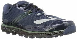 BROOKS MENS RUNNING SHOES PURE GRIT 5 DRESS BLUES/DUCK GREEN