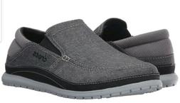 crocs Mens Santa Cruz Playa Slip-on Loafer,Graphite/Light Gr