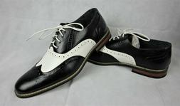 Enzo Romeo Mens Size 11 M Oxfords Wingtip Brogue Two Tone Dr