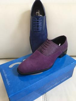 Bolano Mens Suede PU Dress Shoes  Lace up Prom Wedding Tuxed