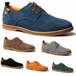 Mens Suede Shoes Multi Size  Dress Formal Oxfords Lace Up Ca
