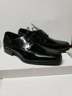 Vangelo Mens Tuxedo Dress Shoes Black Patent Shiny Tux-5 Siz